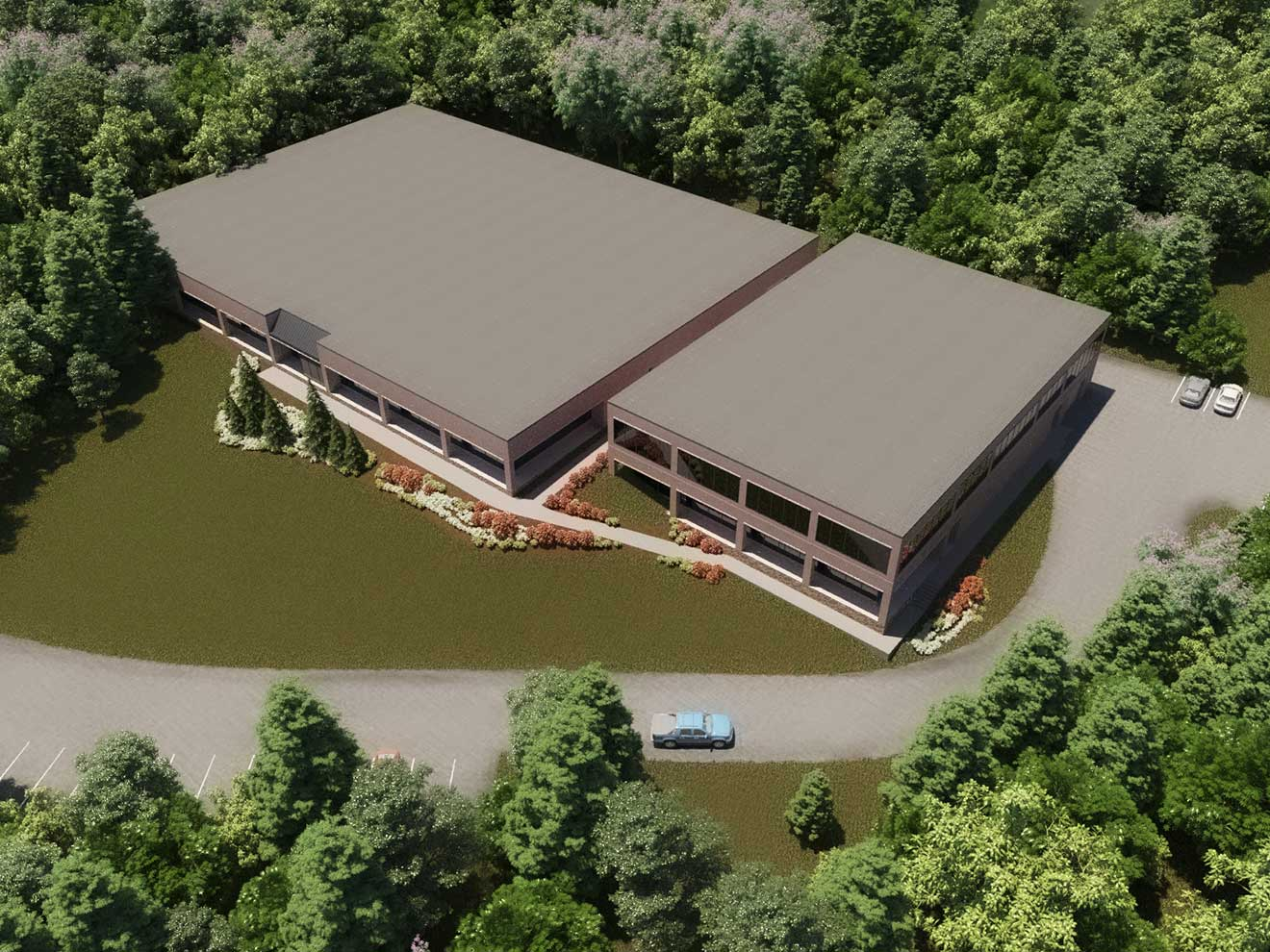 facility expansion rendering